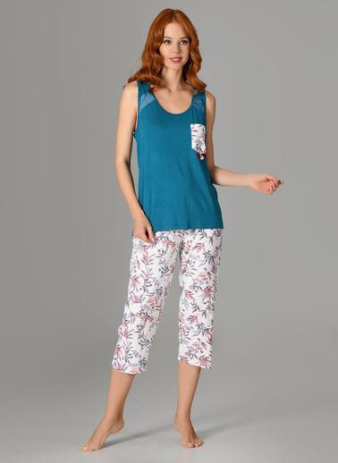 Nbb Pijama Takım Petrol